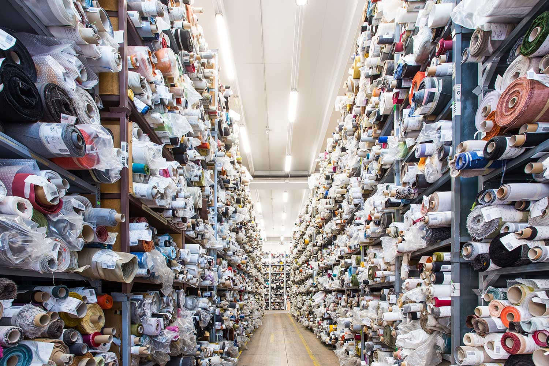 stock service tessuti produzione stoffe per arredamento